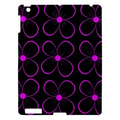 Purple Floral Pattern Apple Ipad 3/4 Hardshell Case by Valentinaart