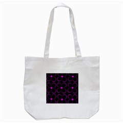 Purple Floral Pattern Tote Bag (white) by Valentinaart