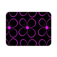 Purple Floral Pattern Double Sided Flano Blanket (mini)