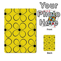 Yellow Floral Pattern Multi Purpose Cards (rectangle)  by Valentinaart
