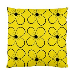 Yellow Floral Pattern Standard Cushion Case (one Side) by Valentinaart