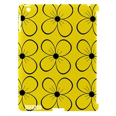 Yellow Floral Pattern Apple Ipad 3/4 Hardshell Case (compatible With Smart Cover) by Valentinaart