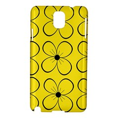 Yellow Floral Pattern Samsung Galaxy Note 3 N9005 Hardshell Case by Valentinaart