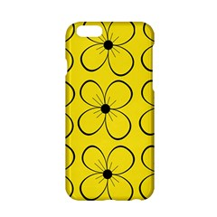 Yellow Floral Pattern Apple Iphone 6/6s Hardshell Case by Valentinaart