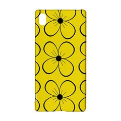 Yellow Floral Pattern Sony Xperia Z3+ by Valentinaart
