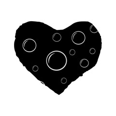 Black And White Bubbles Standard 16  Premium Flano Heart Shape Cushions by Valentinaart