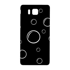 Black And White Bubbles Samsung Galaxy Alpha Hardshell Back Case by Valentinaart
