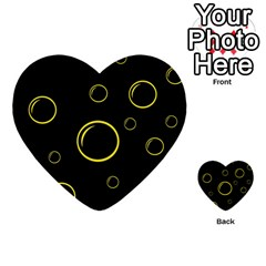 Yellow bubbles Multi-purpose Cards (Heart)  by Valentinaart