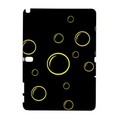 Yellow bubbles Samsung Galaxy Note 10.1 (P600) Hardshell Case by Valentinaart