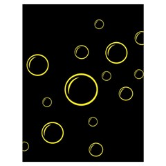 Yellow Bubbles Drawstring Bag (large) by Valentinaart