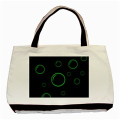 Green Buubles Pattern Basic Tote Bag (two Sides) by Valentinaart