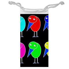 Colorful Birds Jewelry Bags by Valentinaart