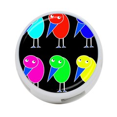 Colorful Birds 4 Port Usb Hub (one Side) by Valentinaart