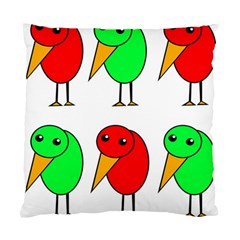 Green and red birds Standard Cushion Case (One Side) by Valentinaart
