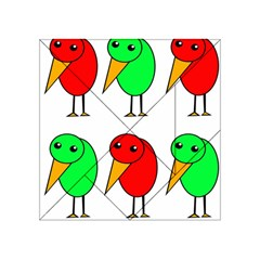 Green And Red Birds Acrylic Tangram Puzzle (4  X 4 ) by Valentinaart