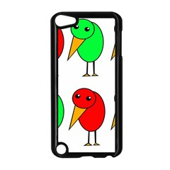 Green and red birds Apple iPod Touch 5 Case (Black) by Valentinaart