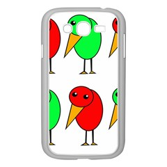 Green And Red Birds Samsung Galaxy Grand Duos I9082 Case (white) by Valentinaart