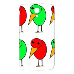 Green And Red Birds Samsung Galaxy Mega I9200 Hardshell Back Case by Valentinaart