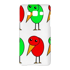 Green And Red Birds Samsung Galaxy A5 Hardshell Case  by Valentinaart