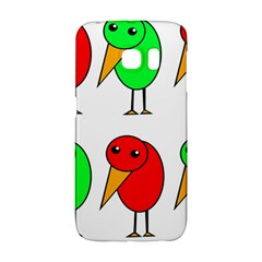 Green And Red Birds Galaxy S6 Edge by Valentinaart