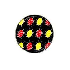 Red And Yellow Bugs Pattern Hat Clip Ball Marker (4 Pack) by Valentinaart