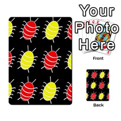 Red And Yellow Bugs Pattern Multi Purpose Cards (rectangle)