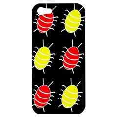 Red And Yellow Bugs Pattern Apple Iphone 5 Hardshell Case by Valentinaart
