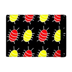Red And Yellow Bugs Pattern Apple Ipad Mini Flip Case by Valentinaart