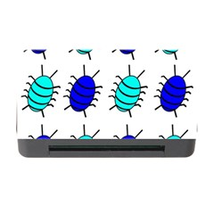 Blue Bugs Memory Card Reader With Cf by Valentinaart