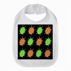 Green And Orange Bug Pattern Bib by Valentinaart