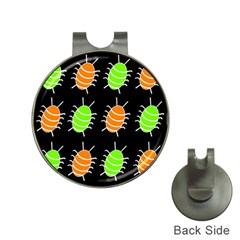 Green And Orange Bug Pattern Hat Clips With Golf Markers by Valentinaart