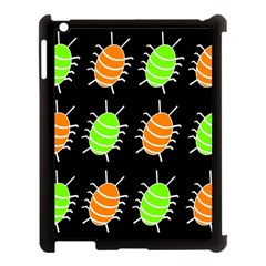 Green And Orange Bug Pattern Apple Ipad 3/4 Case (black) by Valentinaart