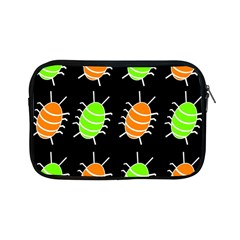 Green And Orange Bug Pattern Apple Ipad Mini Zipper Cases by Valentinaart