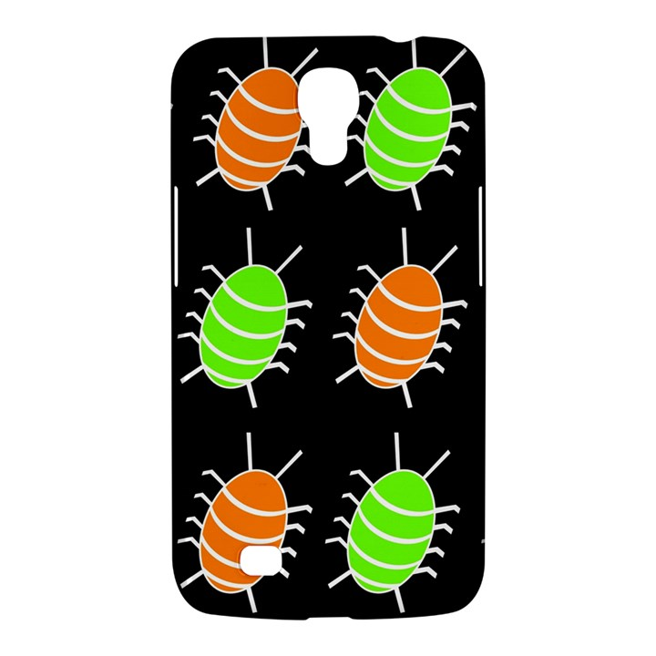 Green and orange bug pattern Samsung Galaxy Mega 6.3  I9200 Hardshell Case