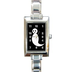 Ghost Rectangle Italian Charm Watch by Valentinaart
