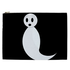 Ghost Cosmetic Bag (xxl)  by Valentinaart