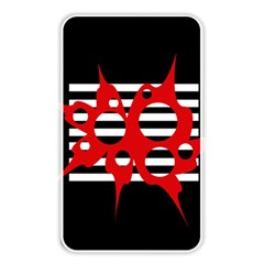 Red, black and white abstract design Memory Card Reader by Valentinaart