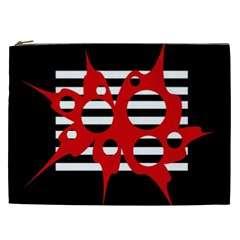 Red, black and white abstract design Cosmetic Bag (XXL)