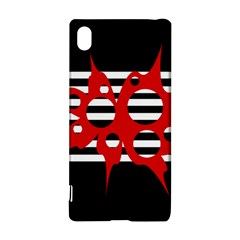 Red, Black And White Abstract Design Sony Xperia Z3+ by Valentinaart