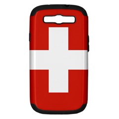 National Flag Of Switzerland Samsung Galaxy S Iii Hardshell Case (pc+silicone)