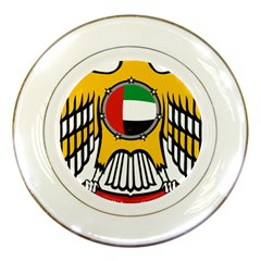Emblem Of The United Arab Emirates Porcelain Plates by abbeyz71