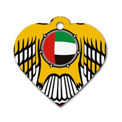 Emblem Of The United Arab Emirates Dog Tag Heart (one Side) by abbeyz71