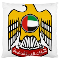 Emblem Of The United Arab Emirates Large Cushion Case (one Side)