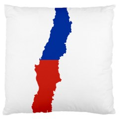 Flag Map Of Chile  Large Cushion Case (one Side)