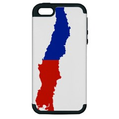 Flag Map Of Chile  Apple Iphone 5 Hardshell Case (pc+silicone)
