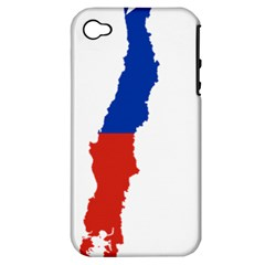Flag Map Of Chile  Apple Iphone 4/4s Hardshell Case (pc+silicone)
