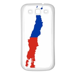 Flag Map Of Chile  Samsung Galaxy S3 Back Case (white)