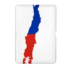Flag Map Of Chile  Samsung Galaxy Tab 2 (10 1 ) P5100 Hardshell Case