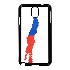 Flag Map Of Chile  Samsung Galaxy Note 3 Neo Hardshell Case (black)