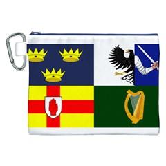 Four Provinces Flag Of Ireland Canvas Cosmetic Bag (xxl) by abbeyz71